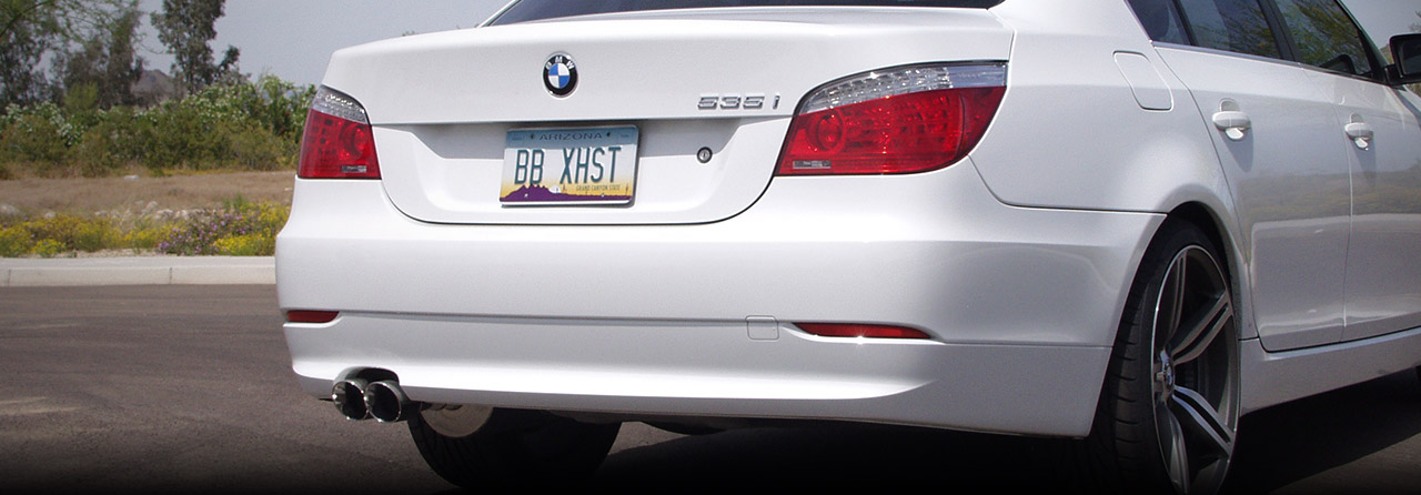 BMW E60 530 Cat Back Exhaust System (Round Tips) #FBMW-3105