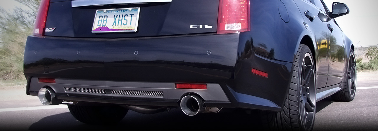 Cadillac CTS-V Coupe Full Catback w/X-pipe (Round Tips)