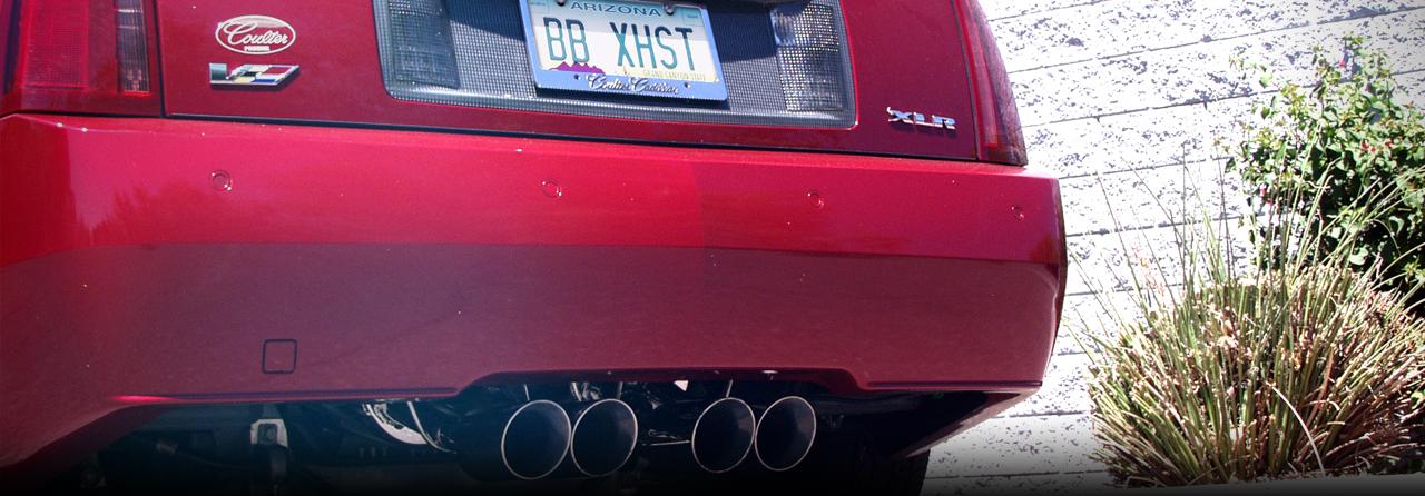 Cadillac XLR-V PRT Axle-Back Exhaust System (Oval Tips) #FDOM-0420
