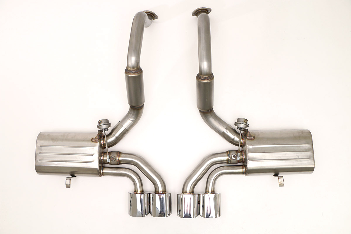 Chevy C5 Corvette Fusion Axle Back Exhaust System Oval
