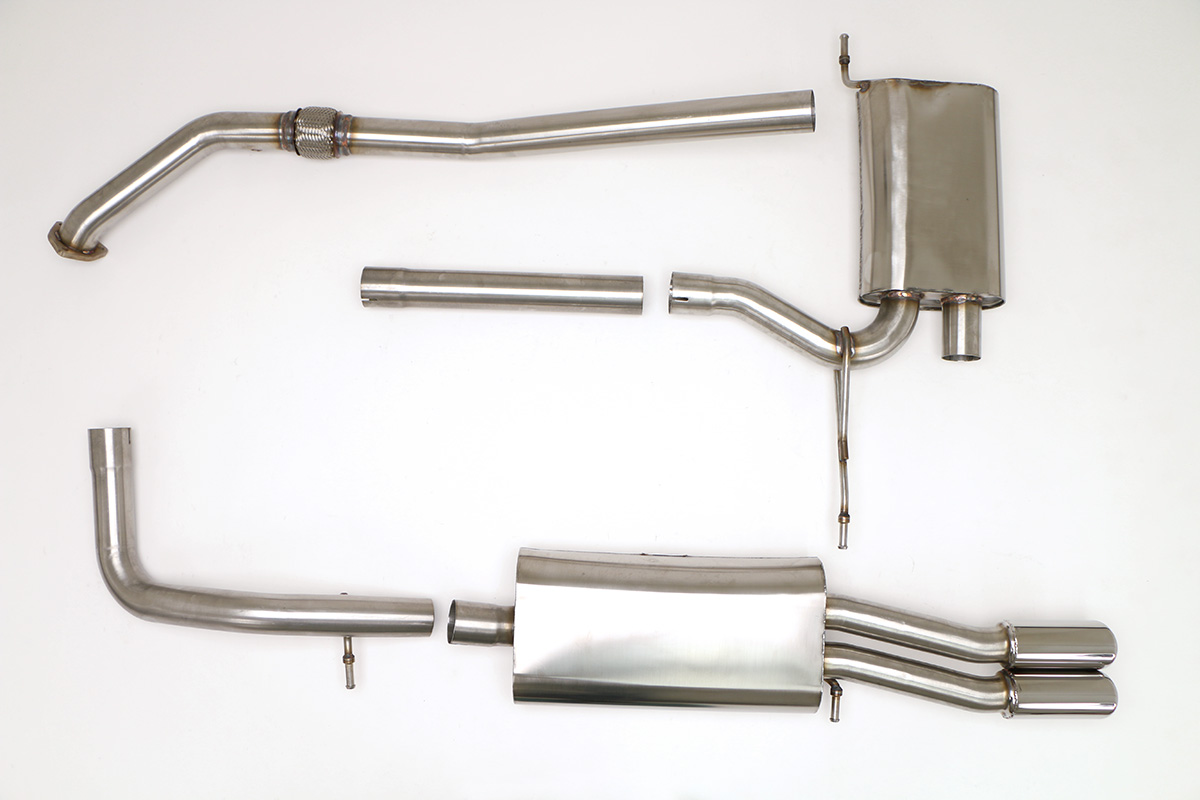 Audi B5 A4 Cat Back Exhaust System 1 8t 5spd Round Tips