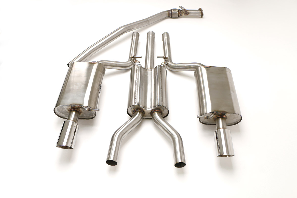 audi b7 a4 quattro cat back exhaust system 2 0t manual round tips rh bbexhaust com 2006 Audi A4 Exhaust Audi A4 1.8T Exhaust