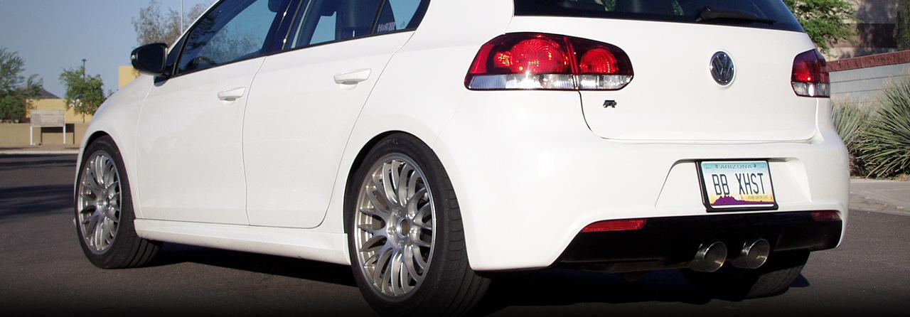 VW Golf R Catback w/ 4″ Round Tips (Round Tips)