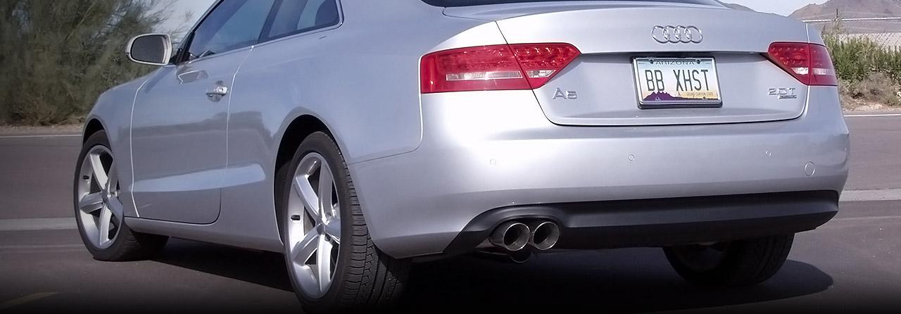 Audi B8 A5 Quattro Cat Back Exhaust System 2.0T 6spd & Tiptronic (Round Tips) #FPIM-0590