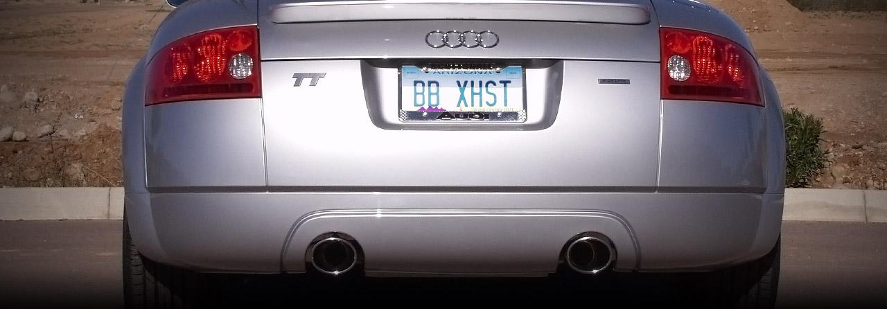 Audi TT 1.8L 180 225 Cat Back Exhaust 2.5″ System* (Round Tips) #FPIM-0555