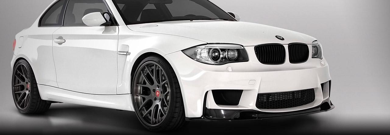 BMW E82 135i TT Rear Muffler Delete  (Round Tips) #FBMW-1050