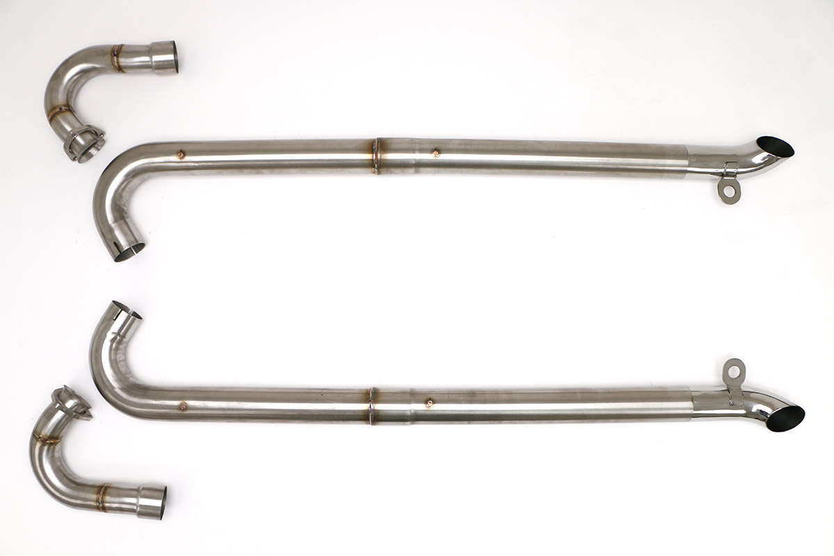 Chevy C2 C3 Corvette Ls Conversion Side Pipes 3 Brushed Stainless Finish Fcor 0590 Billy Boat Exhaust