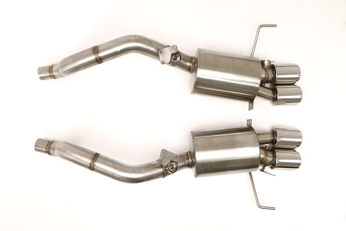 Chevy C7 Corvette Fusion Gen  3 Axle Back Exhaust System (Round Tips)  #FCOR-0665