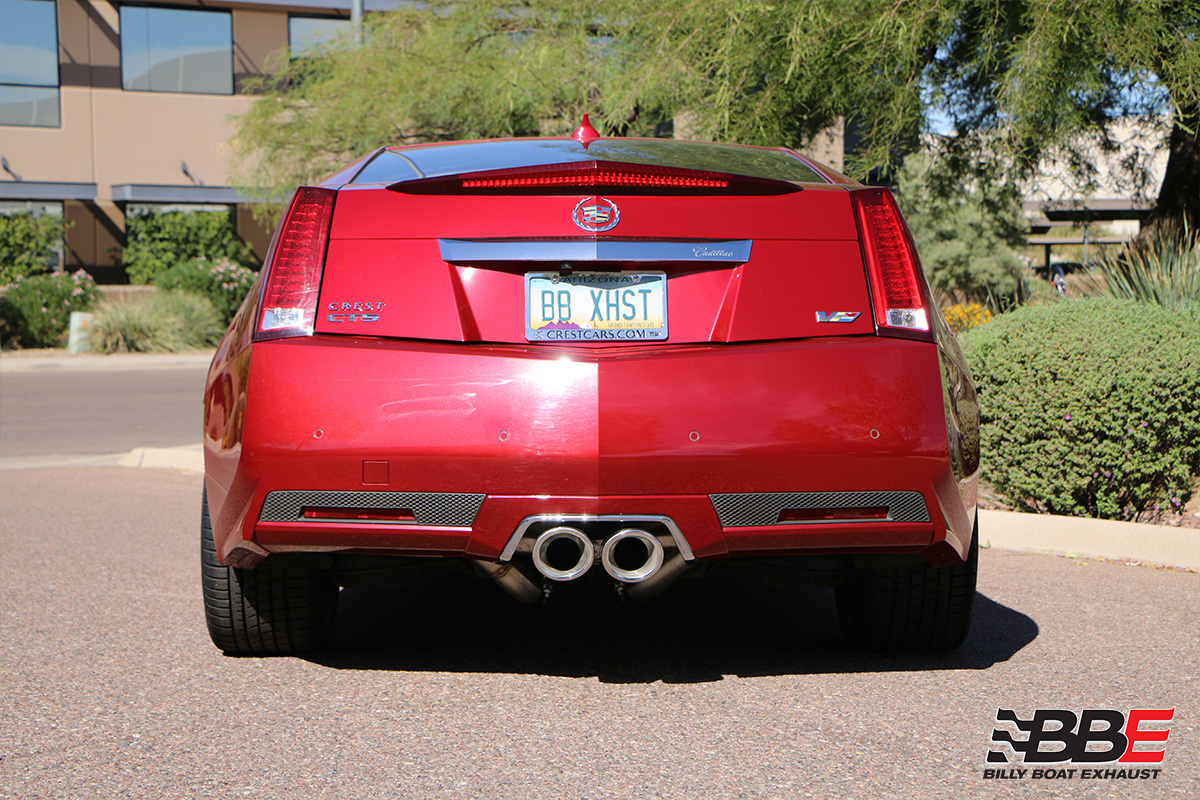 Cadillac CTS-V Coupe Cat Back Exhaust System with X-Pipe (Round Tips)  #FDOM-0325