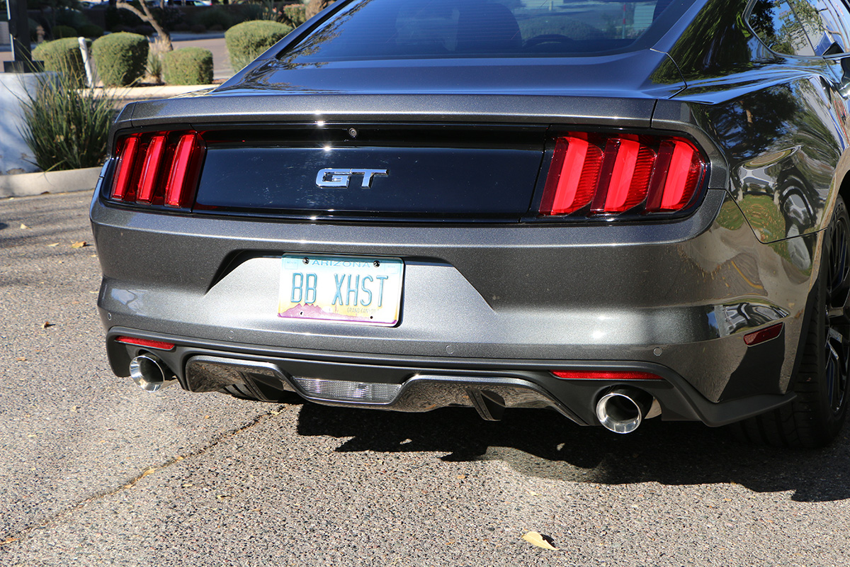 Ford mustang gt cat back with x pipe 2 5″ 5 0l round tips fdom 0525