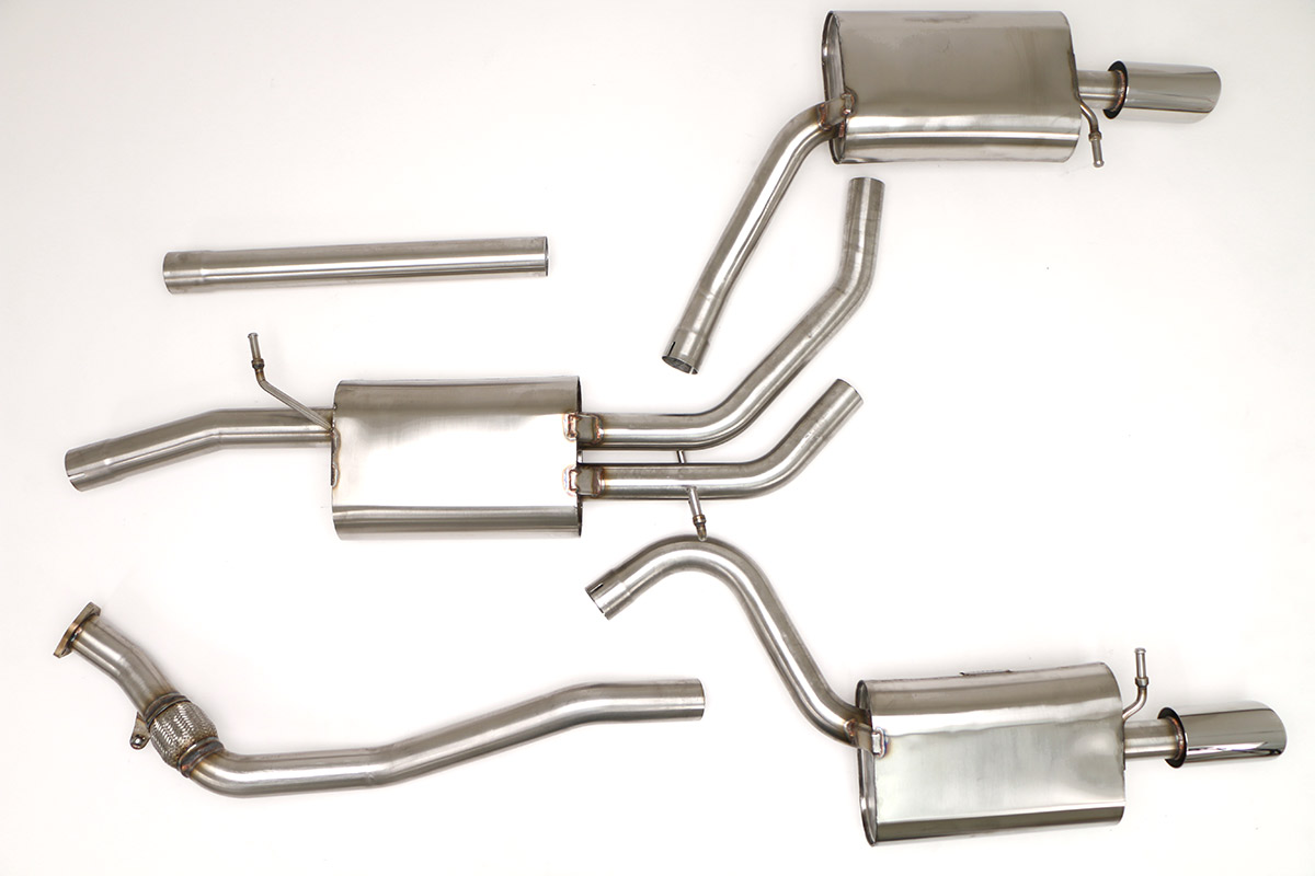 Part Number: FPIM-0501. Application: Audi B7 A4 Cat Back Exhaust System  2.0T Manual ...