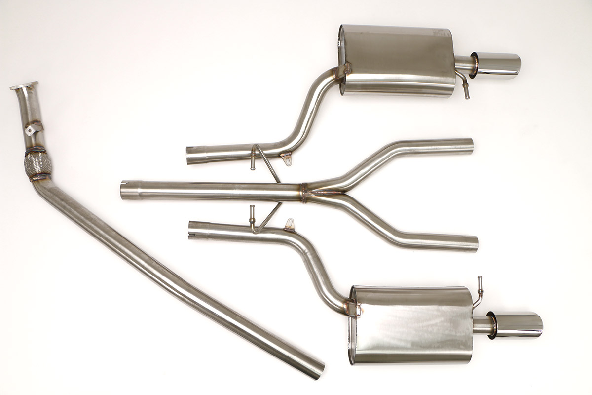 Part Number: FPIM-0506. Application: Audi B6 A4 Quattro Cat Back Sport  Exhaust ...