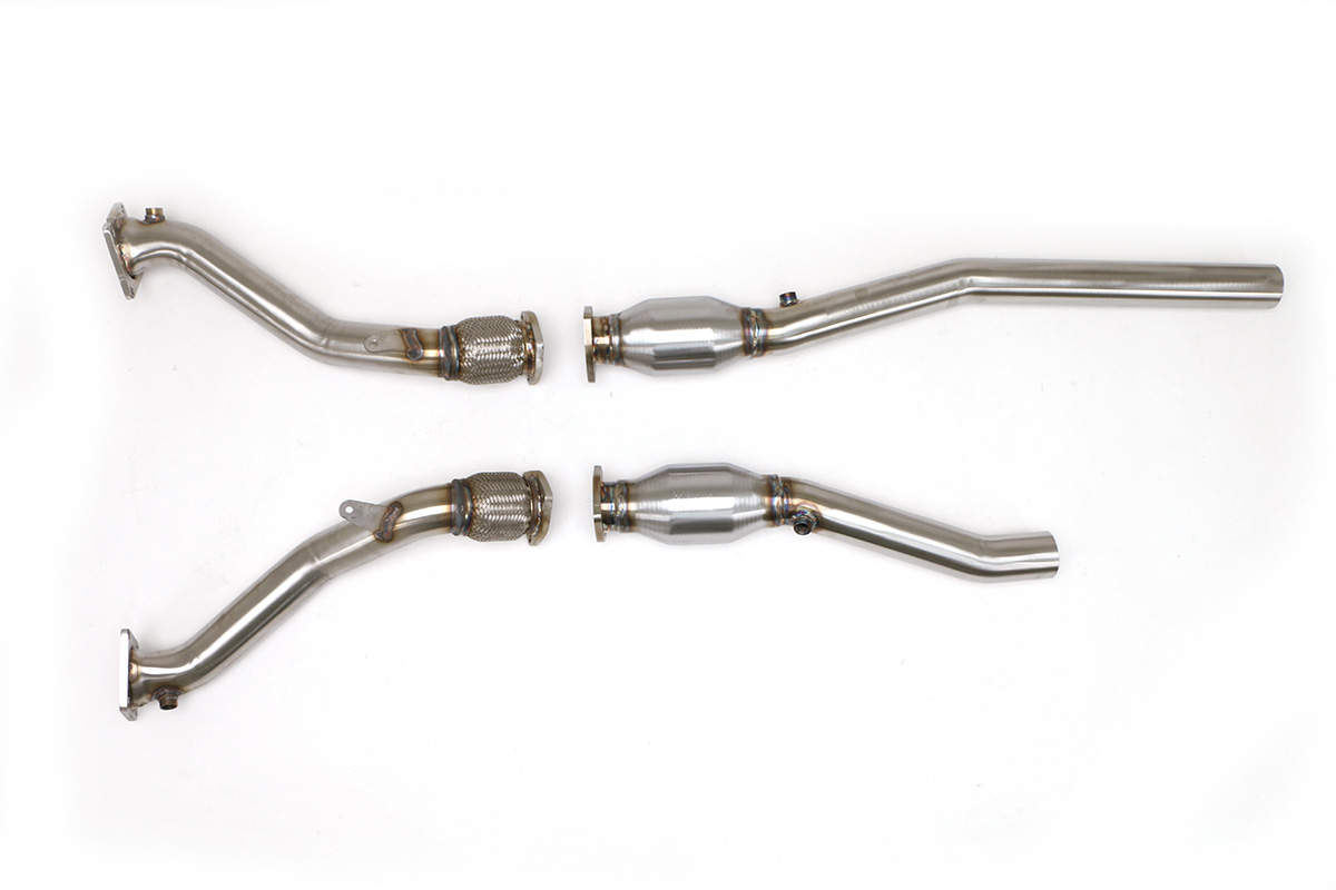 Audi B5 S4 Downpipes with High Flow Cats 2.7T (Manual) #FPIM-0531