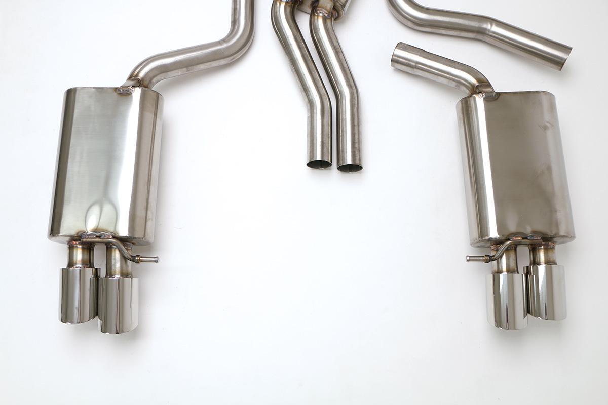 Audi S5 Cat Back Exhaust System 4 2L (Round Tips) #FPIM-0570