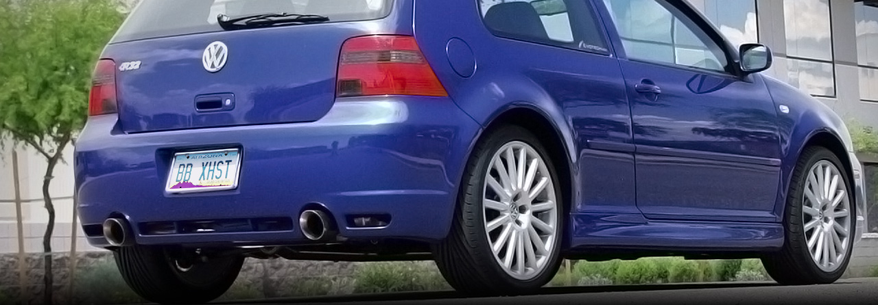 VW R32 Cat Back Exhaust System (Round Tips) #FPIM-0286