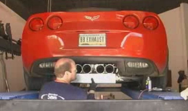 Chevy C6 Z06 Corvette – Bullet Exhaust Installation