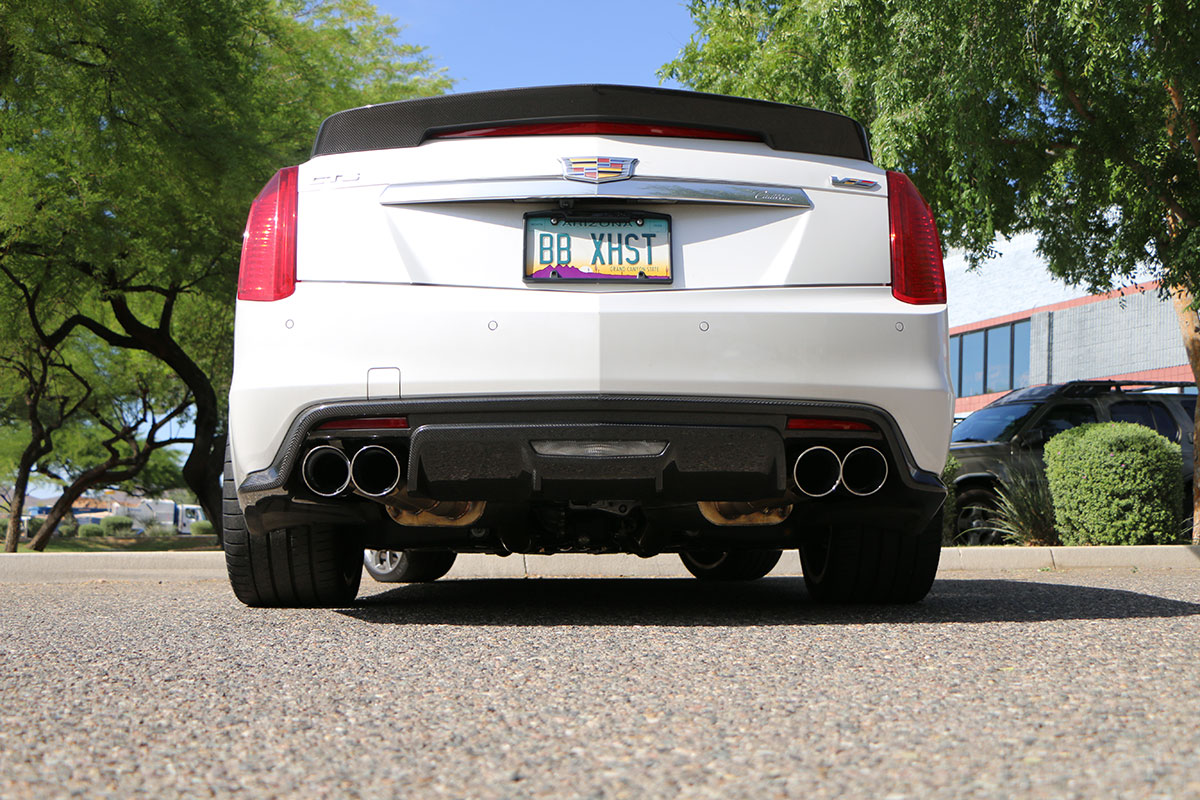 cadillac cts v fusion exhaust system round tips fdom 0330