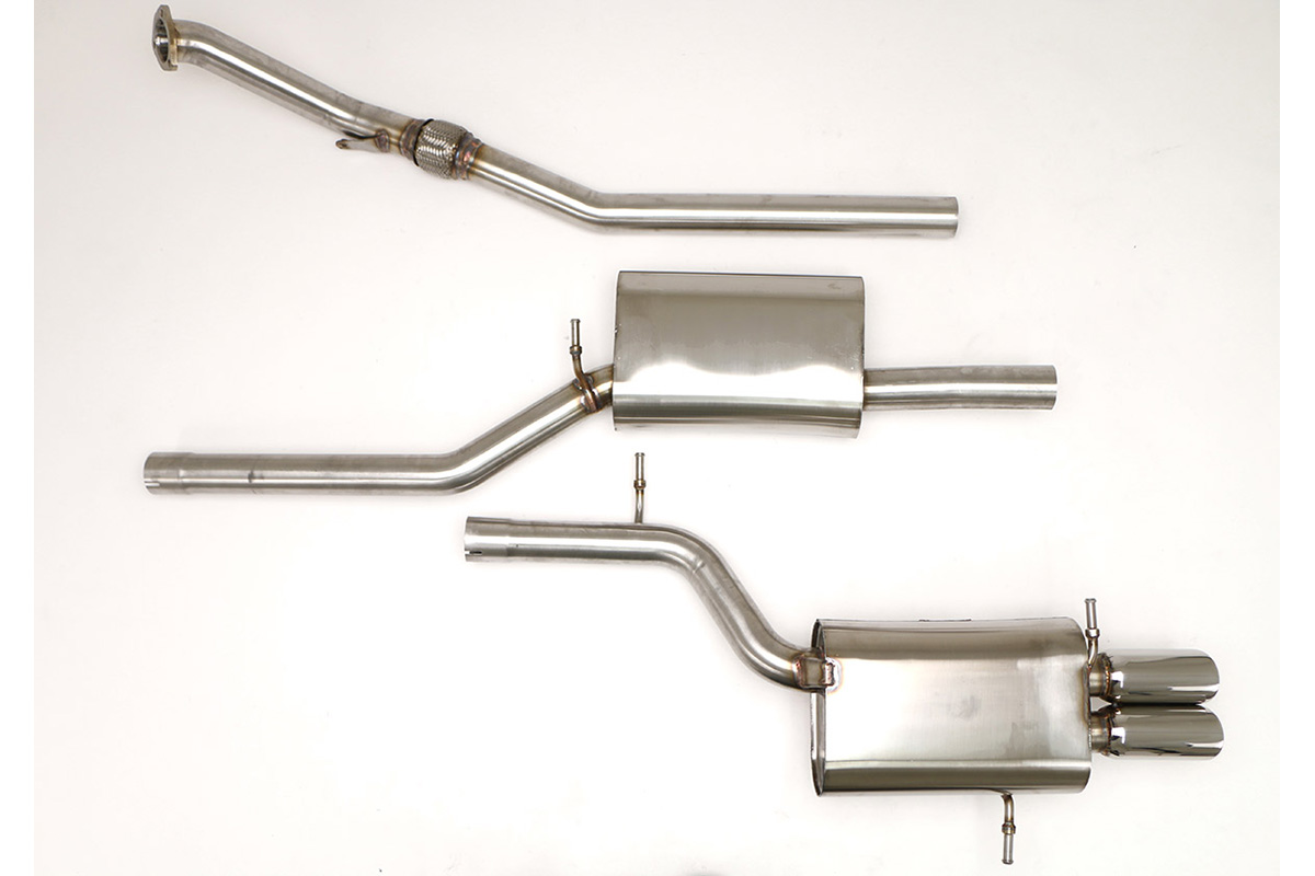 Part Number: FPIM-0505. Application: Audi B5 A4 Quattro Cat Back Exhaust  System ...